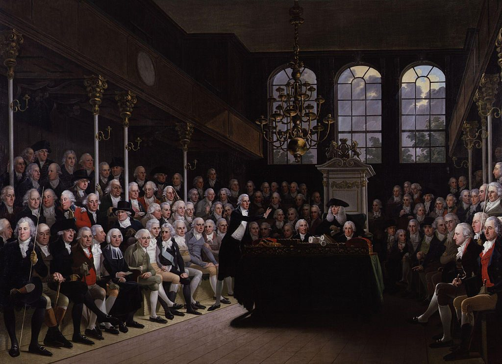 The House of Commons 1793-94 by Karl Anton Hickel