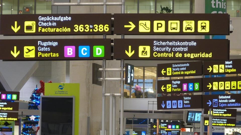 空港案内板表示