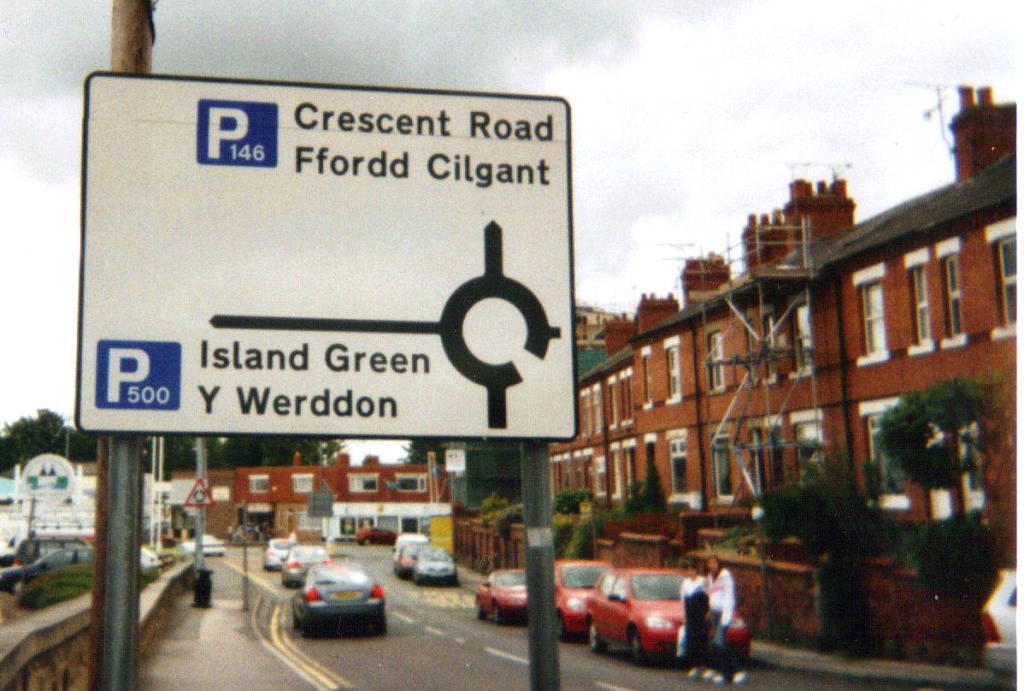 ウェールズの道路標識